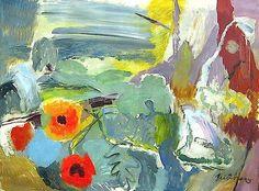 Painting Ivon Hitchens - - Poppies, Open Window on the Downs - Leeds Art Gallery Online Leeds Art Gallery, Online Art Gallery, Abstract Landscape, Abstract Art, Landscape Paintings, Modern Art, Contemporary Art, Collage, Open Window