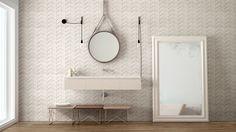 Nadčasová série obkladů do koupelny Dover Marazzi. Sérii nabízíme v bílé, šedé a béžové barvě v matném povrchu. #keramikasoukup #koupelnyodsoukupa #dover #marazzi #koupelnyinspirace #bathroom #inspiration #koupelna #simple Grey And Beige, Beige Color, Dover White, Background Tile, Marble Effect, Wall Tiles, Bathroom, Stone, Design