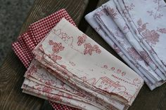 Never thought of making napkins out of a sheet.  Clever!