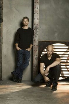 Vin Diesel and Paul Walker. RIP Paul. Great picture of the both of them.