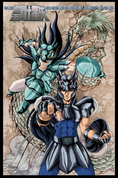This is an old one, three of the beautiful amazon warriors in the Saint Seiya saga, Marin, Shaina and June. Marin and Shaina were colored in photoshop. I used brushes and color inks in June. This c...