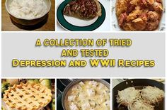 A Collection Of Tried And Tested Depression and WWII Recipes   One of the ways folks seemed to ge...