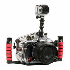 Ikelite DSLR Top Mount Kit for GoPro! Capture video while shooting stills. This mount kit is super lightweight, flexible, and includes everything you need to attach your GoPro to an Ikelite DSLR top mount. GoPro camera not included. Double Exposure Photography, Levitation Photography, Camera Photography, Underwater Photography, Gopro Underwater, Underwater Photos, Gopro Diy, Gopro Video, Gopro Accessories