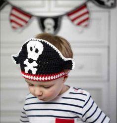 Crochet pirate headband hat pattern by Ruby & Custard - https://www.amazon.co.uk/Ruby-Custards-Crochet-Creative-projects/dp/1785030558