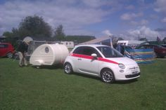 Fiat 500 and Sleeper,Derbyshire 2012