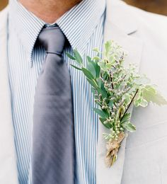 Groom's Boutonniere Elegant Castle Cliffs Wedding Inspiration Shoot from Laura Murray Photography