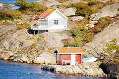 Photo about White hyte and remote view at North Sea in Porter, Norway. Kragero s island paradise. The pearl of the coast in Porter. Image of blue, cabin, coastline - 43848911 North Sea, Norway, Vectors, Remote, Coast, Cabin, Sign, Stock Photos, Island