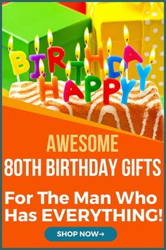 80 Year Old Man Birthday Gift Ideas – Brilliant Gifts Birthday Ideas For Grandpa, Old Man Birthday, 80th Birthday Gifts, Birthday Gift For Him, Gifts For Old Men, 80th Birthday Decorations, Personalized Gifts For Men, Fabulous Birthday, Milestone Birthdays