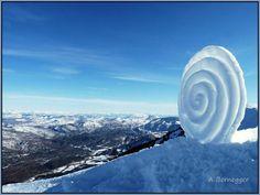 Spirale de neige  Alain Bernegger     #Landart   #sculpture