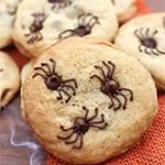 These CHOCOLATE CHIP SPIDER COOKIES are proof that you dont need to be a professional baker or have any special equipment to make a super cool creepy Halloween treat Im all about EASY Halloween treats and these are as creepy and easy as it gets httpstastesbetterfromscratchcomchocolatechipspidercookies