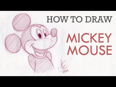 How To Draw Mickey Mouse - YouTube