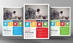 Computer And Mobile Repair Flyer by Business Templates on @creativemarket