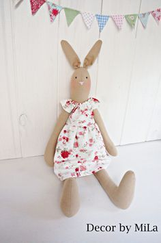 Bunny, Vintage, Handicrafts, Home decor, Gift, Easter by DecorbyMiLa on Etsy https://www.etsy.com/listing/507120240/bunny-vintage-handicrafts-home-decor