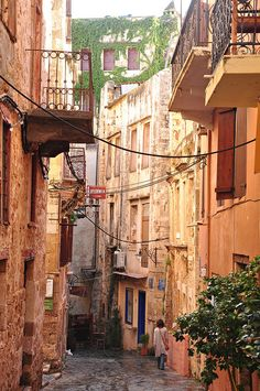 Alley in Chania, Greece
