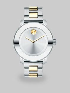 Movado - Two-Tone Stainless Steel Bold Watch - Saks.com