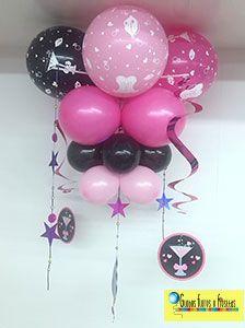 Globos, Flores y Fiestas Balloon Ceiling, Balloon Columns, Balloon Arch, Ceiling Decor, Office Birthday, 1st Birthday Girls, Birthday Parties, Balloon Decorations, Birthday Decorations