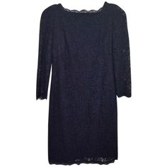 Pre-owned Adrianna Papell Navy Blue Dress (160 AUD) ❤ liked on Polyvore featuring dresses, navy blue, lace cocktail dress, navy blue lace dress, navy bridesmaid dresses, knee length bridesmaid dresses and blue dress