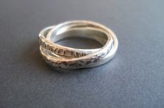 Unique handmade sterling silver textured Russian wedding ring   #silversongjewellery #handmade #proudlysouthafrican #jewellery #jewelry Handmade Silver Jewellery, Handmade Sterling Silver, Silver Jewelry, Silver Rings, Russian Wedding, Wedding Rings, Engagement Rings, Texture, Unique