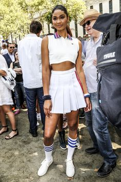 Chanel Iman in Tommy Hilfiger