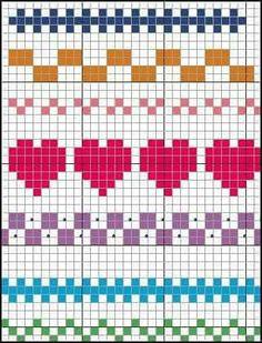Terrific Pics Cross Stitch borders Suggestions Brain Clutter: Cross stitch pattern: Borders and things Fair Isle Knitting Patterns, Knitting Charts, Knitting Socks, Knitting Stitches, Beginner Knitting, Cross Stitch Boarders, Cross Stitch Designs, Cross Stitching, Cross Stitch Embroidery