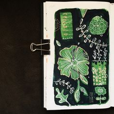 38/365 - Floral Garden Sketch Art Journal by Two if by Sea Studios