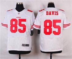 f7fa28614 Nike San Francisco 49ers  85 Vernon Davis White Elite Jersey