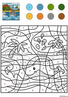 ausmalbild malen nach zahlen: mann und hund im auto ausmalen kostenlos ausdrucken | color