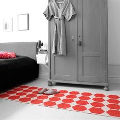 Anna rug red from Brita Sweden