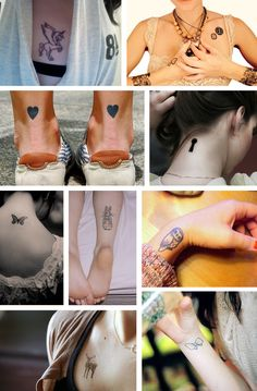 Cute tattoos...I like the key hole in a different spot or the heart on back of ankle, but just one. Girly tats tattoos