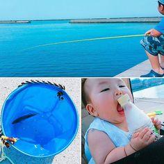 【mh_a___ya】さんのInstagramをピンしています。 《お魚も暑かったのか今日の収穫は1匹💦 息子も顔が真っ赤で娘ちゃんも2本目のペットボトルが飽きてきたようで帰宅しました🚗 釣った魚を海に返したら仲間の魚が群れでいっぱい海面まで上がりビックリ❗❗ 迎えに来たのでしょうか~⁉ 猛暑の中神秘的な体験をしました😃 #生後7ヶ月 #12月生まれ #女の子 #女の子ママ #年の差兄妹 #9歳差 #男の子ママ #親バカ部 #コドモノ #札幌 #ママリ #海 #釣り #魚が迎えに来た #神秘的 #sea #fusing #bebygirl #beby ##instagood #instabeby#instakids #instafamily》