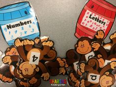 Letter and Number Sorting... A Barrel of Monkeys...