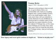 Tommy Bolin tribute