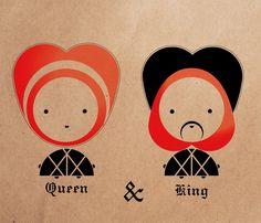 Queen  & King by Nina Popovska, via Behance
