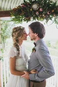 Byron Bay Farm Wedding Anna Campbell Dress