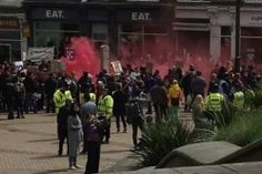 """Mob Throws Smoke Bombs in Failed Attempt to Stop March for Life in England: """"All We Could Do was Kneel and Pray"""""""