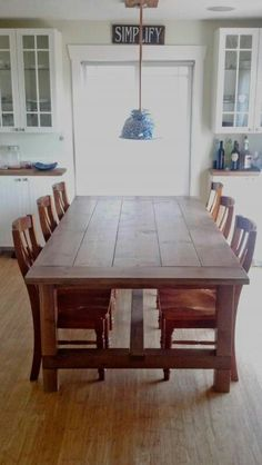 The search begins for the perfect farm table