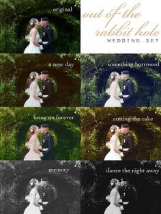 Out of the Rabbit Hole - Wedding Photoshop Actions