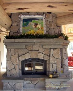 Fireplace in yellow cedar log home in the mountains of California. For more photos or this or any other or my homes, please check out my website, www.designma.com, my Design Page, www.facebook.com/loghomedesign, or Pinterest, http://www.pinterest.com/murrayarnott/murray-arnott-design #cedarhome #loghomedesign #loghomes #handcraftedhome