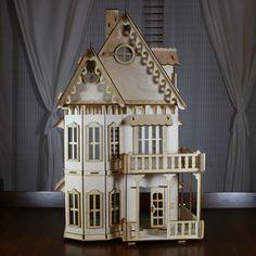 Victorian Gingerbread Dollhouse Baltic Birch Plywood Kit. $97.95, via Etsy.