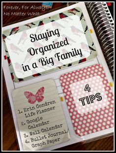 Staying Organized in a Big Family