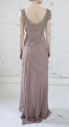 Alberta Ferretti Crystal Embellished Sheath Wedding Reception Dress | Nearly Newlywed