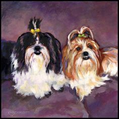 These were our downstairs neighbor's dogs when we lived in town. They've just come home from a visit to the beauty parlor. Don't let their dainty appearance fool you, though; they're quite spunky. GIRLS RULE!