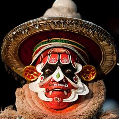 Indian Kathakali face painting