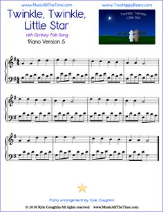 Learn Piano Lessons Twinkle, Twinkle, Little Star advanced piano sheet music, with Alberti bass line, free printable PDF. Reading Sheet Music, Easy Sheet Music, Piano Sheet Music, Teaching Music, Teaching Kids, Learning Piano, Piano Lessons, Music Lessons, Piano Scales