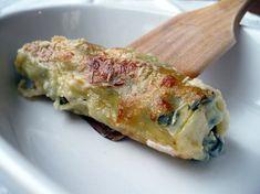 Spinach and Ricotta Cannelloni - Ricotta, Cannelloni, Spinach, Healthy Recipes, Healthy Food, Chicken, Exotic, Italian Cuisine, Cooker Recipes