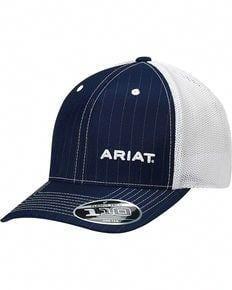 9e59ef8b076 Ariat Mens Navy Pinstripe Pattern Baseball Cap