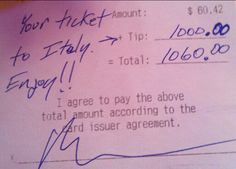 Hardworking Waitress Gets the Biggest Tip of Her Life... To be able to do something like this one day for someone and not have to worry about the money!