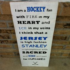 Hockey quote- Yep, this sums it up nicely for me #truestory