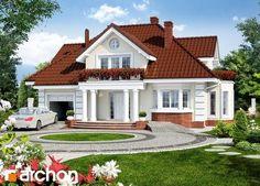Projekat kuće sa potkrovljem i garažom – Archon 3 Village House Design, Kerala House Design, Bungalow House Design, House Front Design, Small House Design, Modern House Design, Dream House Plans, Modern House Plans, Architectural House Plans