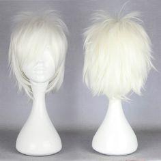White Hitman Reborn Short Cosplay Wig